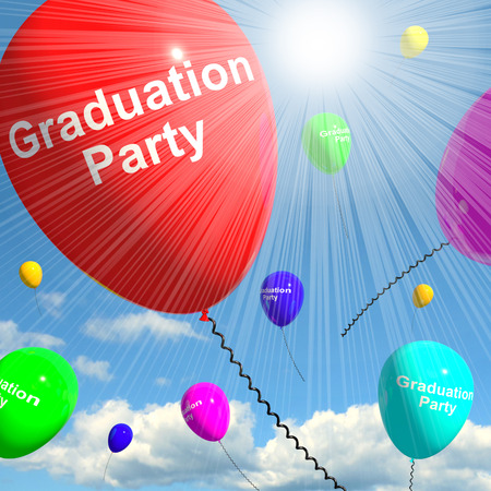 Graduation Balloons Shows School College Or Graduation 3d Rendering
