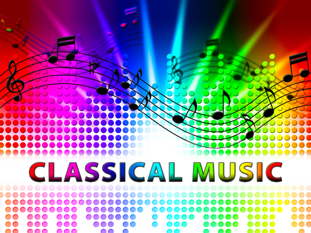 Classical Music Notes Design Shows Symphonic Soundtracks And Audio Stock Photo