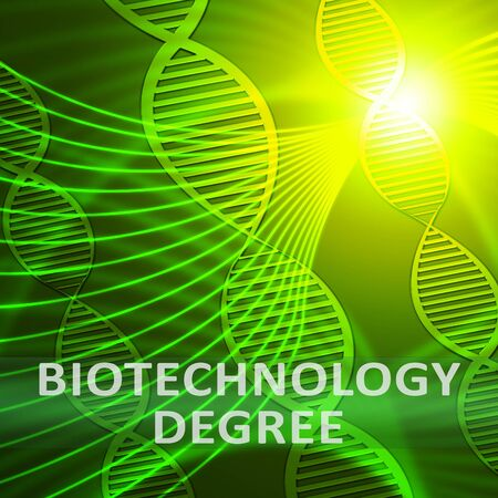Biotechnology Degree Helix Meaning Biotech Qualification 3d Illustration Stock Photo
