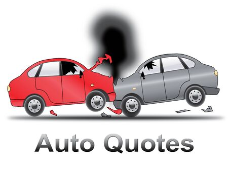 insured: Auto Quotes Crash Shows Car Policy 3d Illustration Stock Photo