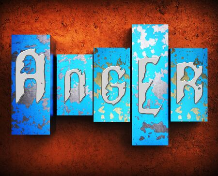 irritated: Angry Word Showing Fury Rage 3d Illustration