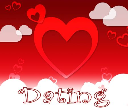 Dating Hearts Indicating Sweetheart Partner And Relationships Stock Photo