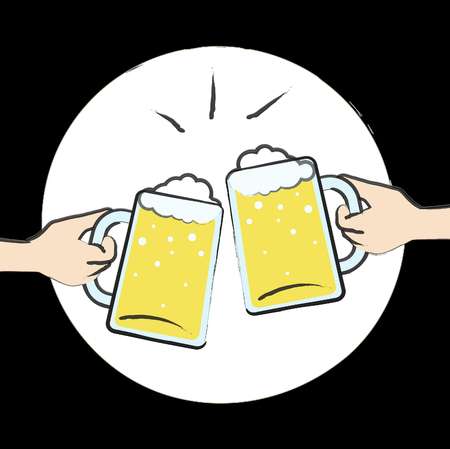 Beer Glasses Clinked Together Meaning Lager Ale And Alcohol