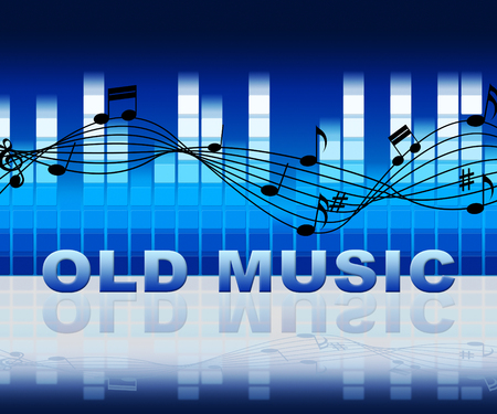 tunes: Old Music Symbols Means Classic Tunes From The Past