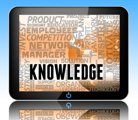 Knowledge Words Tablet Showing Know How And Wisdom 3d Illustration