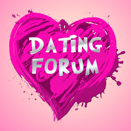 Dating Forum Heart Design Means Sweethearts Partners 3d Illustration
