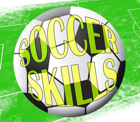 Soccer Skills Ball Showing Football Expertise 3d Illustration