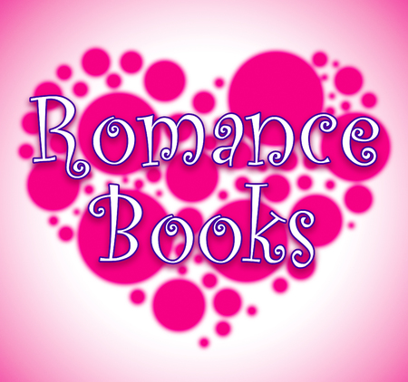 Romance Books Heart Circles Showing In Love Affection Novels Stock Photo
