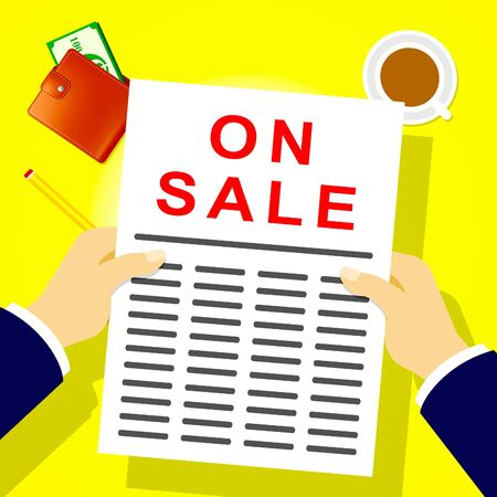 On Sale Newsletter Represents Discount Save 3d Illustration