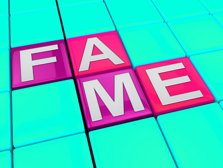 stardom: Fame Blocks Indicating Famed Stardom 3d Illustration