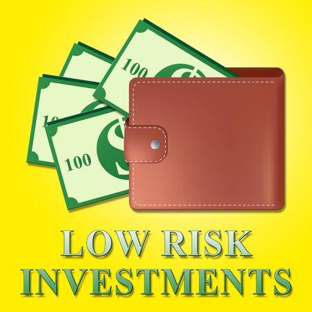 Low Risk Investments Wallet Meaning Safe Investing 3d Illustration