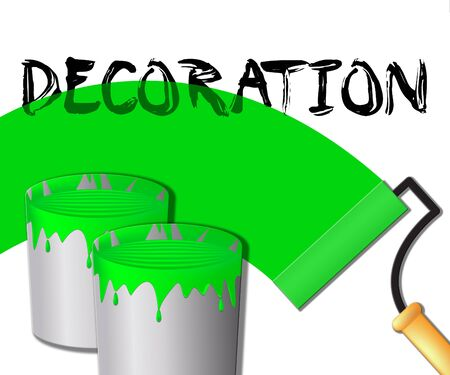 Home Decoration Paint Displays House Painting 3d Illustration Stock Photo