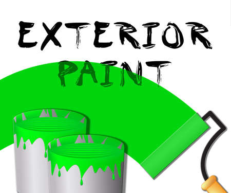 Exterior Paint Displaying Outside Painting 3d Illustration