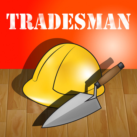 Building Tradesman Builders Hat Represents Home Improvement 3d Illustration Stock Photo