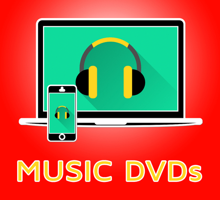 Music Dvds Online Indicates Compact Discs 3d Illustration