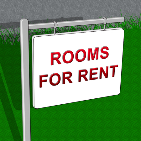 renter: Rooms For Rent Showing Real Estate 3d Illustration