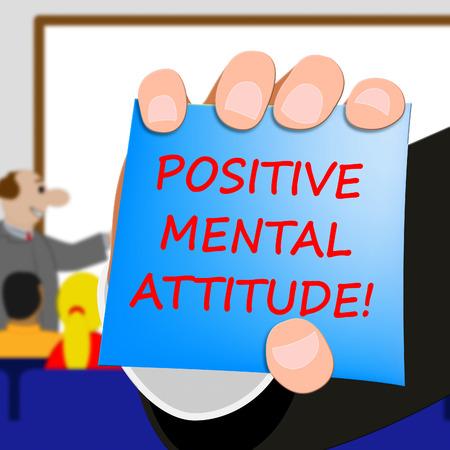 Positive Mental Attitude Meaning Optimism 3d Illustration