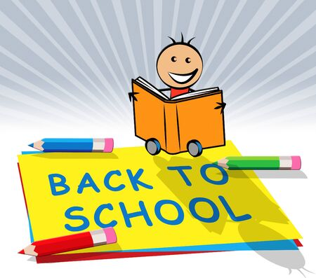 Back To School Paper Displays Youths Educate 3d Illustration