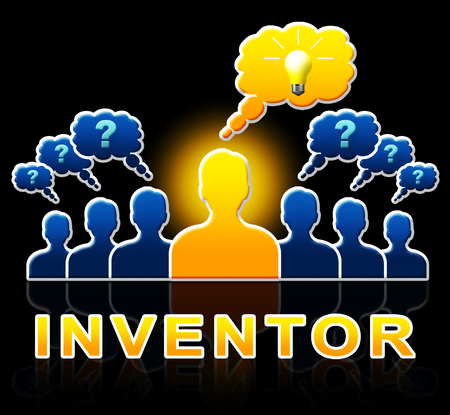 invents: Inventor People Means Innovating Invents And Innovation 3d Illustration