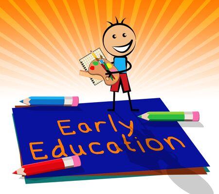 Early Education Paper Displays Kids School 3d Illustration