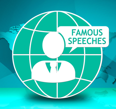 Famous Speeches Icon Showing Great Speech 3d Illustration