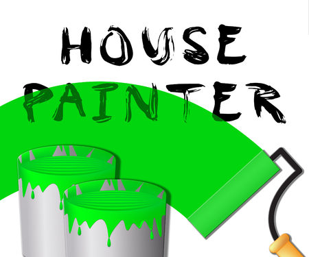 House Painter Paint Displays Home Painting 3d Illustration