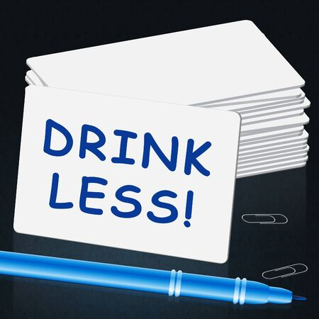 intoxicating: Drink Less Meaning Stop Drinking 3d Illustration