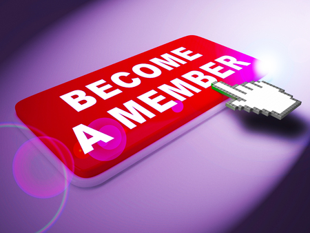 Become A Member Key Means Join Up 3d Rendering Stock Photo