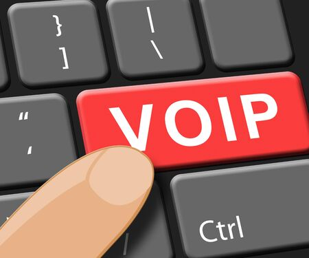 Voip Key Showing Internet Voice 3d Illustration Stock Photo