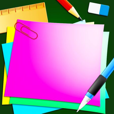 note pad: Blank Message Represents Copyspace To Do 3d Illustration