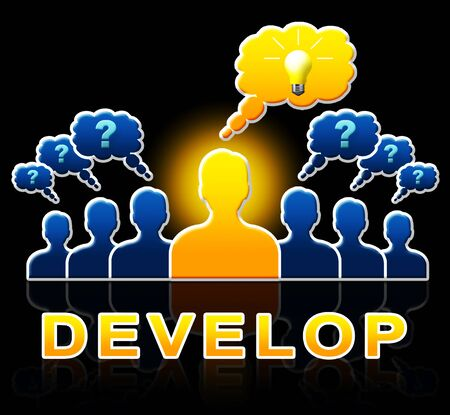 Develop People Meaning Growth Progress 3d Illustration Stock Photo