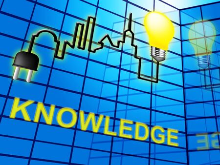 Knowledge Lightbulb Shows Know How And Wisdom 3d Illustration Stock Photo