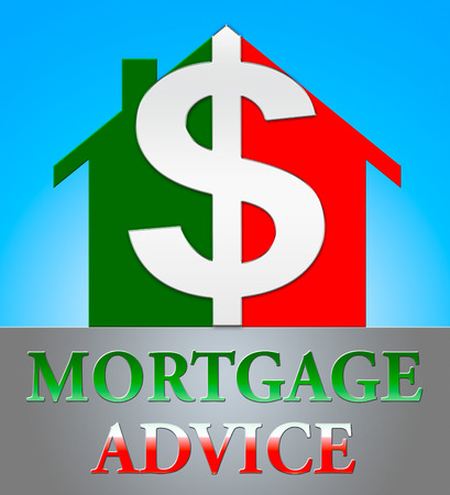 Mortgage Advice Dollar Icon Indicating Home Loan 3d Illustration