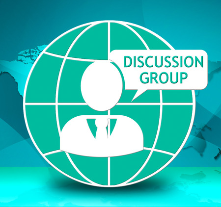 Discussion Group Icon Showing Community Forum 3d Illustration Stock Photo