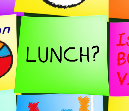 Lunch Or Brunch Note Representing Getting Hungry 3d Illustration