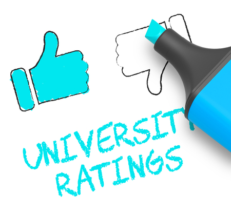 University Ratings Thumbs Up Shows Approved Universities 3d Illustration
