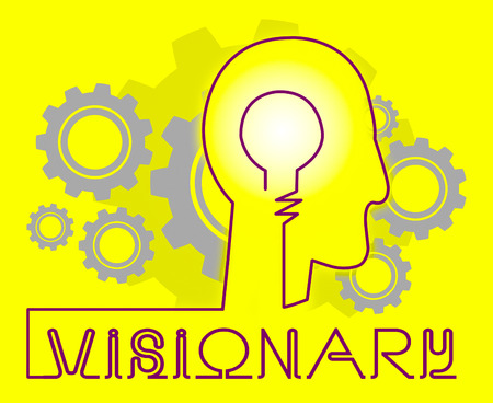 insights: Visionary Brain Represents Insights Strategist And Ideals
