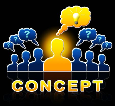 contemplate: Concept People Meaning Ideas Theory And Notion 3d Illustration