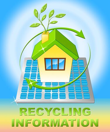 Recycling Information House Displays Earth Friendly 3d Illustration Stock Photo
