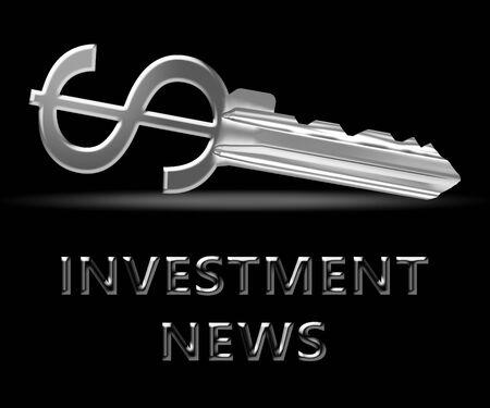 Investment News Key Means Investing Headlines 3d Illustration