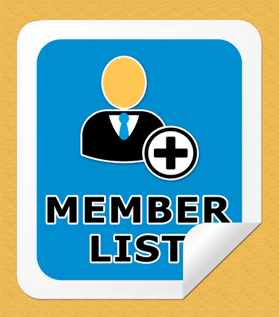listing: Member List Icon Means Subscription Listing 3d Illustration Stock Photo