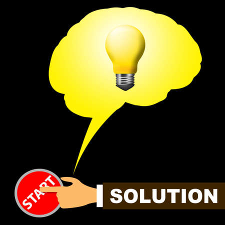 Solution Light Coins Representing Solving And Resolution 3d Illustration