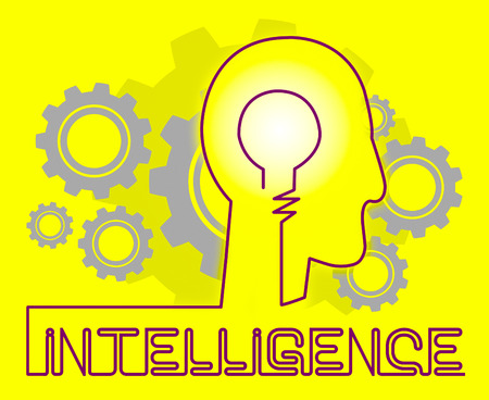 Intelligence Cogs Representing Intellectual Capacity And Acumen Stock Photo