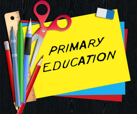 educated: Primary Education Meaning Child Studying 3d Illustration