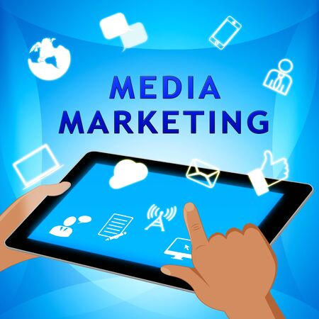 emarketing: Media Marketing Meaning Emarketing Sem 3d Illustration Stock Photo
