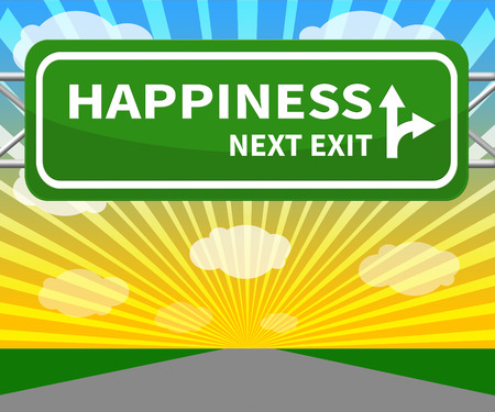 happier: Happiness Signs Means Happier Joy 3d Illustration Stock Photo
