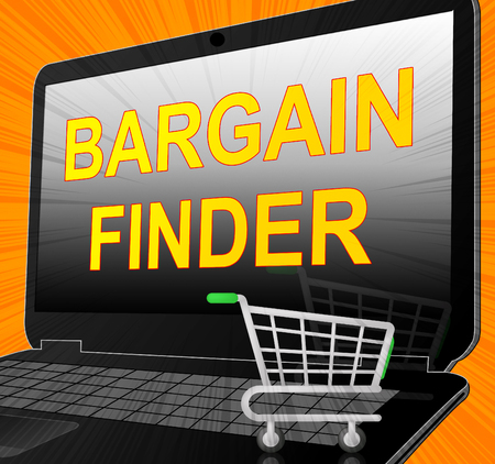 reduced value: Bargain Finder Showing Internet Comparison 3d Illustration