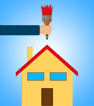 house painter: Home Decoration Means House Painting 3d Illustration