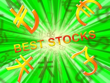 Best Stocks Symbols Means Top Shares 3d Illustration Banco de Imagens
