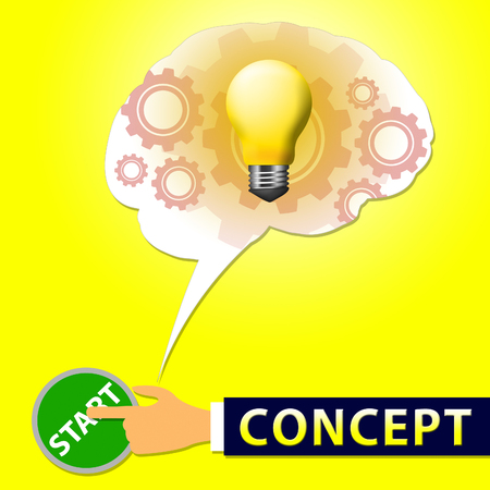 Concept Light Meaning Ideas Theory 3d Illustration Foto de archivo - 75643098